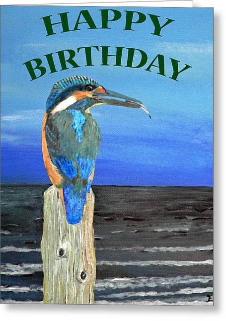 Europe Mixed Media Greeting Cards - Happy Birthday Greeting Card by Eric Kempson