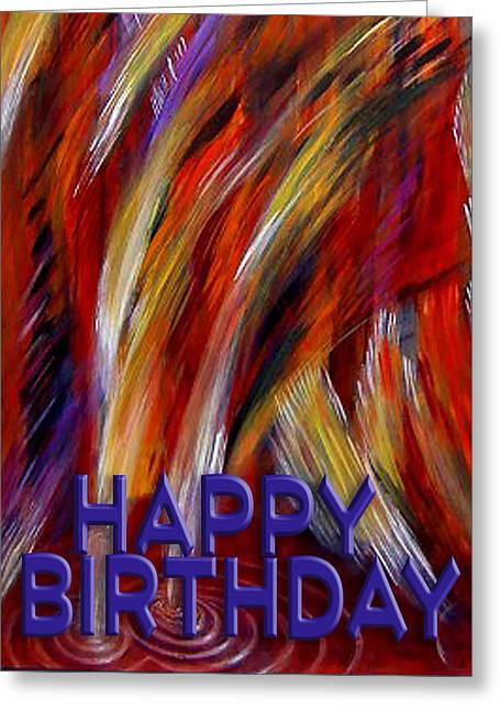Party Invite Greeting Cards - Happy Birthday  Greeting Card by Thomas Lupari