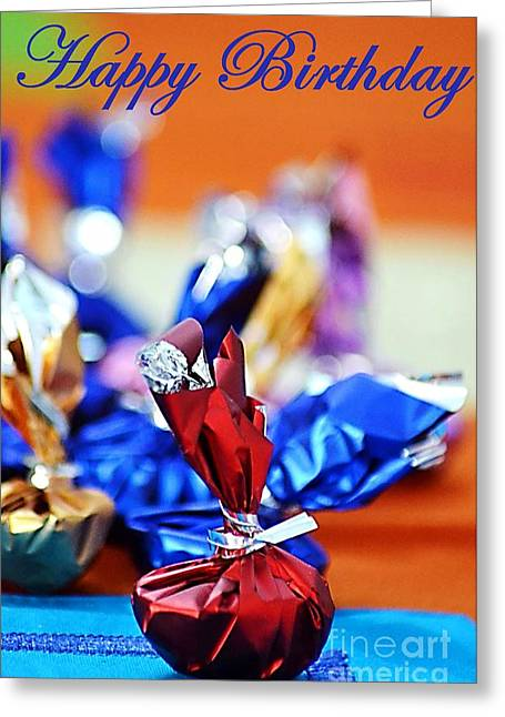 Wishes Greeting Cards - Happy Birthday  Greeting Card by Veena Nair