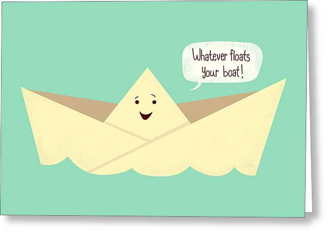 Toy Boat Greeting Cards - Happy Boat Greeting Card by Ana Villanueva
