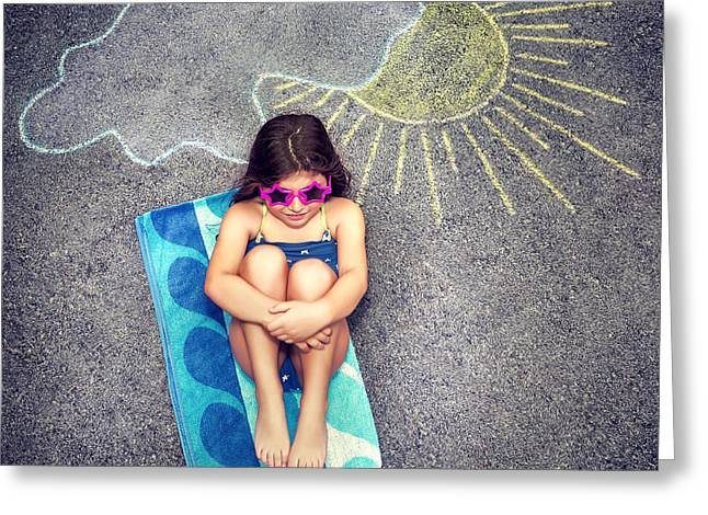 Creative People Greeting Cards - Happy child in summer camp Greeting Card by Anna Omelchenko