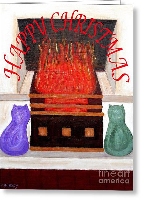 Christmas Mixed Media Greeting Cards - Happy Christmas 10 Greeting Card by Patrick J Murphy