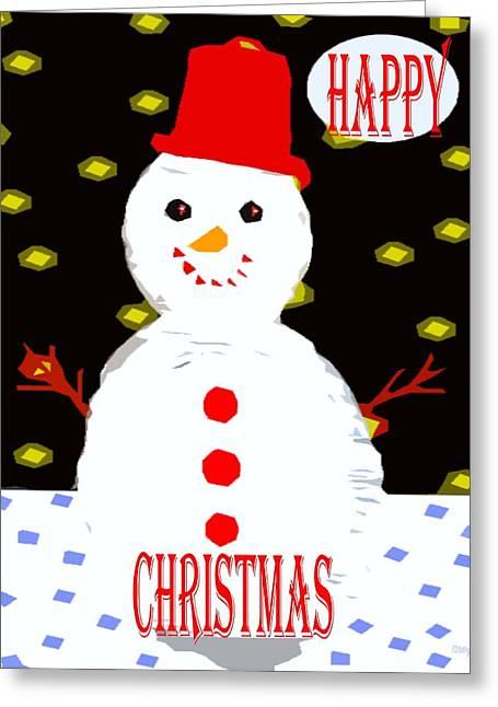 Cute Mixed Media Greeting Cards - Happy Christmas 104 Greeting Card by Patrick J Murphy