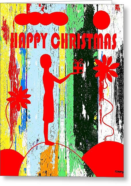 Happy Christmas 14 Greeting Card by Patrick J Murphy