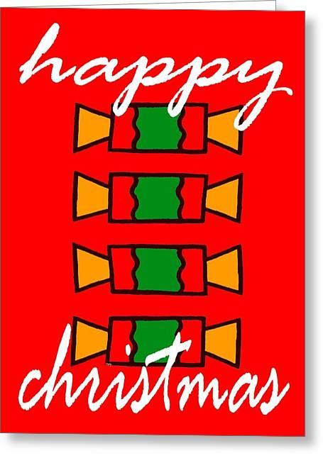 Christmas Art Greeting Cards - Happy Christmas 20 Greeting Card by Patrick J Murphy