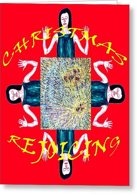Religious Mixed Media Greeting Cards - Happy Christmas 21 Greeting Card by Patrick J Murphy