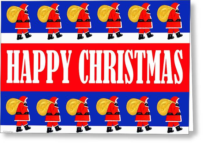 Happy Christmas 26 Greeting Card by Patrick J Murphy