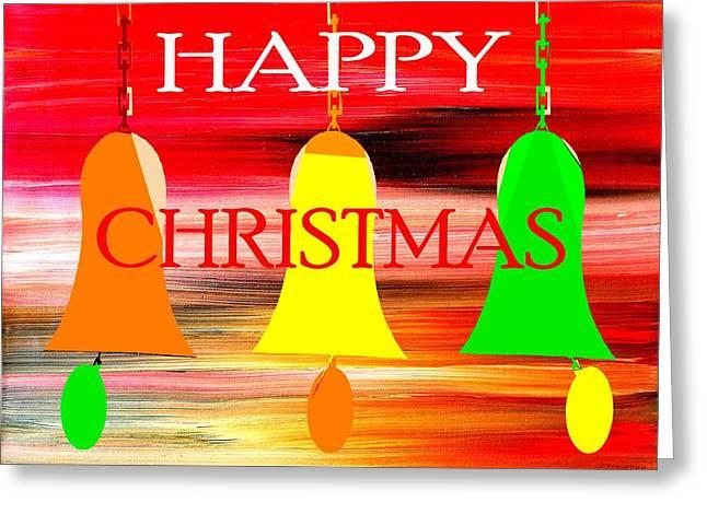 Christmas Art Greeting Cards - Happy Christmas 27 Greeting Card by Patrick J Murphy