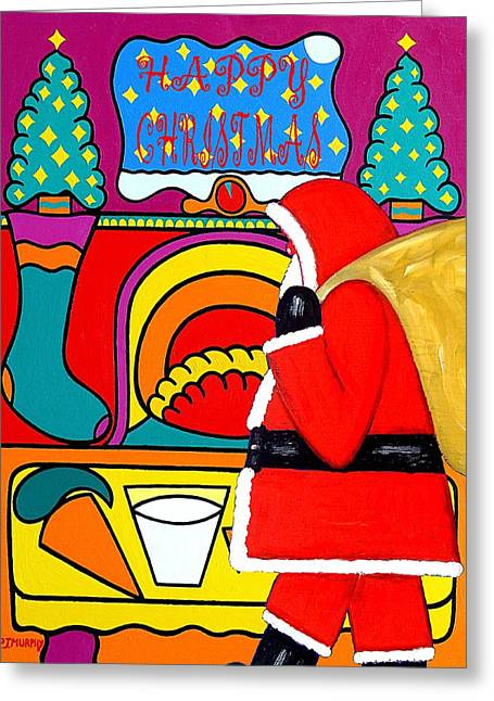 Christmas Art Greeting Cards - Happy Christmas 30 Greeting Card by Patrick J Murphy
