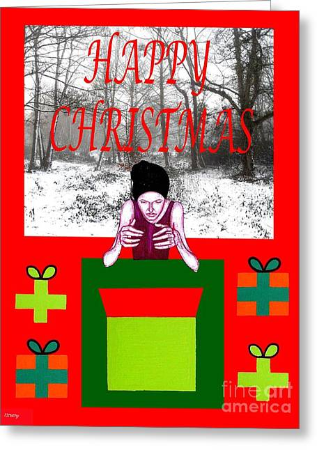 Christmas Mixed Media Greeting Cards - Happy Christmas 33 Greeting Card by Patrick J Murphy