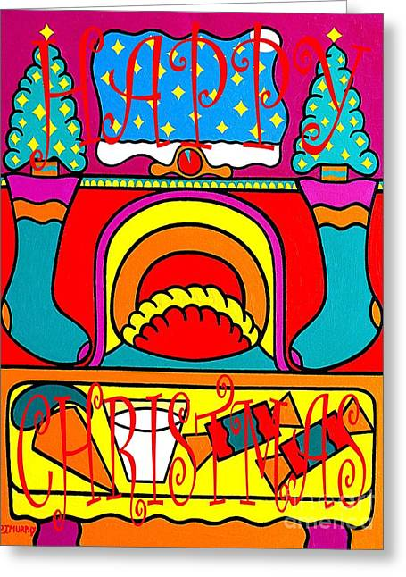 Christmas Mixed Media Greeting Cards - Happy Christmas 38 Greeting Card by Patrick J Murphy