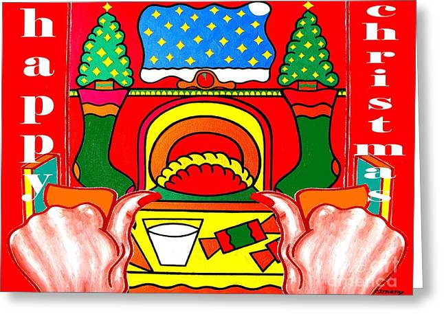 Christmas Mixed Media Greeting Cards - Happy Christmas 39 Greeting Card by Patrick J Murphy