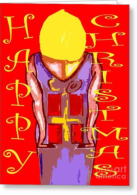 Christmas Mixed Media Greeting Cards - Happy Christmas 40 Greeting Card by Patrick J Murphy