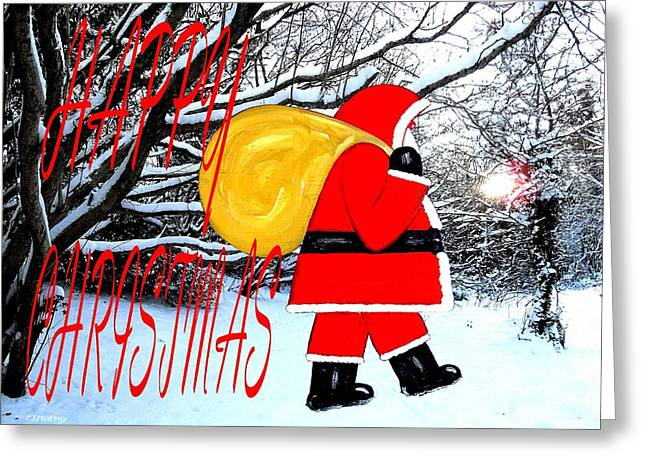 Christmas Art Greeting Cards - Happy Christmas 41 Greeting Card by Patrick J Murphy