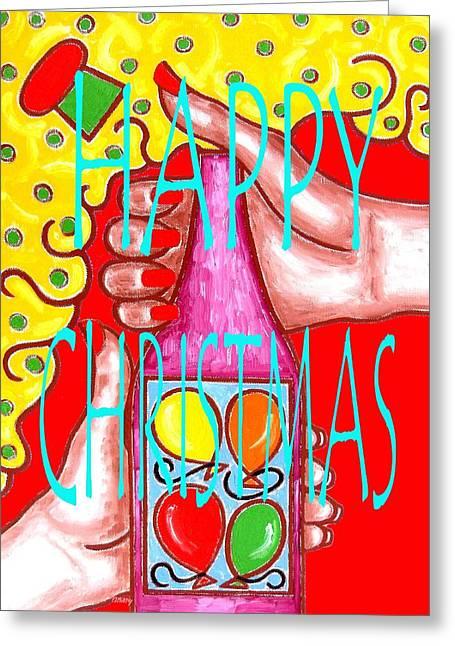 Christmas Art Greeting Cards - Happy Christmas 43 Greeting Card by Patrick J Murphy