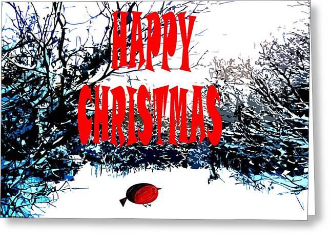 Christmas Art Greeting Cards - Happy Christmas 45 Greeting Card by Patrick J Murphy