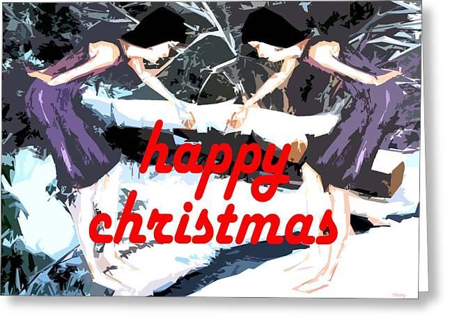 Christmas Art Greeting Cards - Happy Christmas 51 Greeting Card by Patrick J Murphy