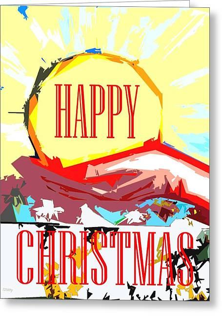 Christmas Art Greeting Cards - Happy Christmas 53 Greeting Card by Patrick J Murphy