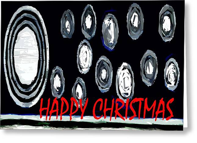 Christmas Art Greeting Cards - Happy Christmas 54 Greeting Card by Patrick J Murphy