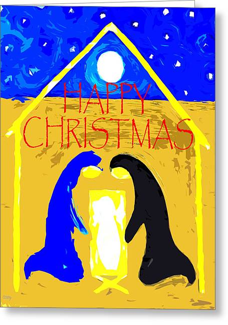 Christmas Art Greeting Cards - Happy Christmas 55 Greeting Card by Patrick J Murphy