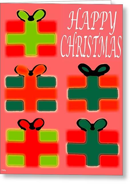 Christmas Art Greeting Cards - Happy Christmas 58 Greeting Card by Patrick J Murphy
