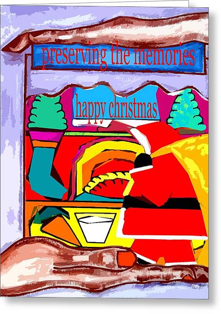 Christmas Art Greeting Cards - Happy Christmas 59 Greeting Card by Patrick J Murphy