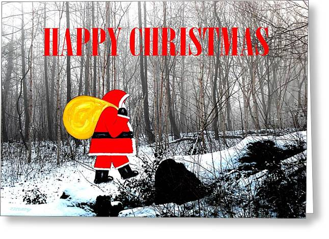 Christmas Art Greeting Cards - Happy Christmas 60 Greeting Card by Patrick J Murphy