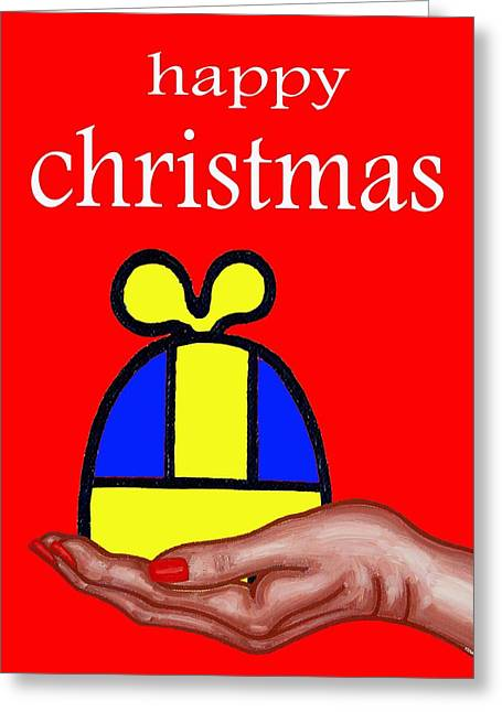 Christmas Art Greeting Cards - Happy Christmas 61 Greeting Card by Patrick J Murphy