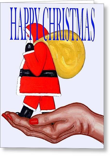 Christmas Art Greeting Cards - Happy Christmas 64 Greeting Card by Patrick J Murphy