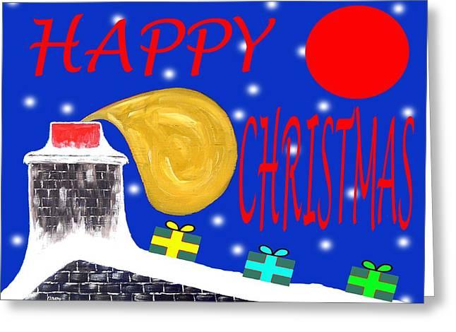 Christmas Art Greeting Cards - Happy Christmas 65 Greeting Card by Patrick J Murphy