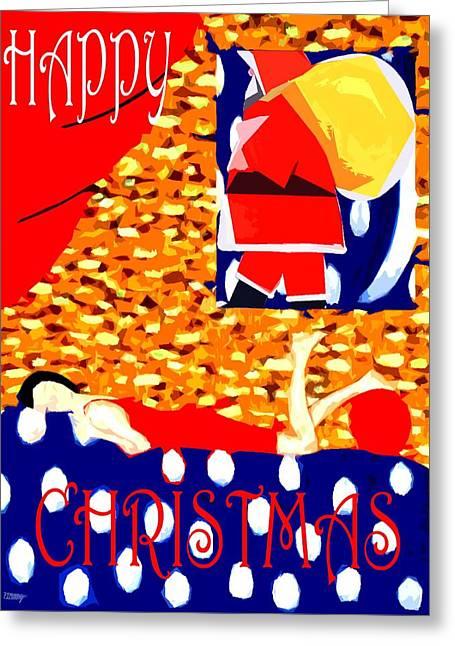 Christmas Art Greeting Cards - Happy Christmas 74 Greeting Card by Patrick J Murphy