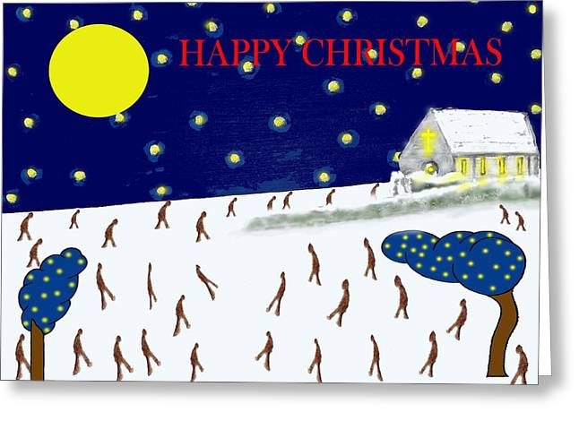 Chapel Mixed Media Greeting Cards - Happy Christmas 95 Greeting Card by Patrick J Murphy