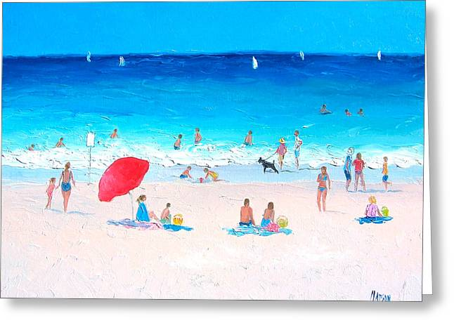 Beach Cottage Style Greeting Cards - Happy Day Greeting Card by Jan Matson