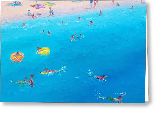On The Beach Greeting Cards - Happy Days at the seaside Greeting Card by Jan Matson