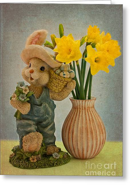 Soot Greeting Cards - Happy Easter Greeting Card by Angela Doelling AD DESIGN Photo and PhotoArt