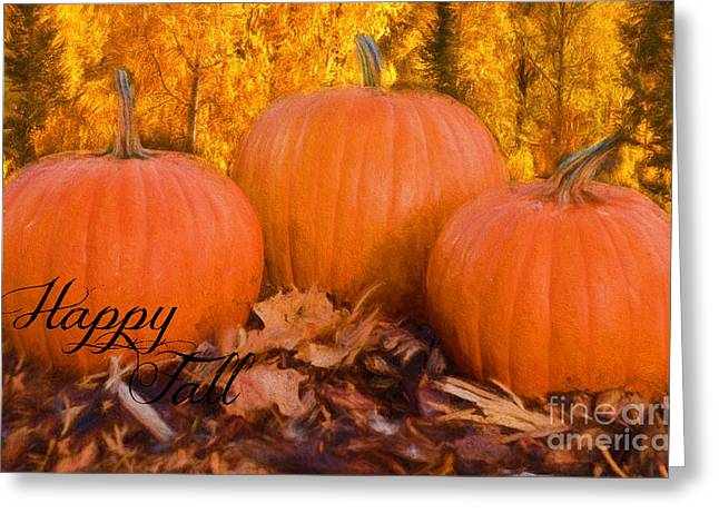Texting Greeting Cards - Happy Fall Greetings with Text Greeting Card by Carolyn Rauh