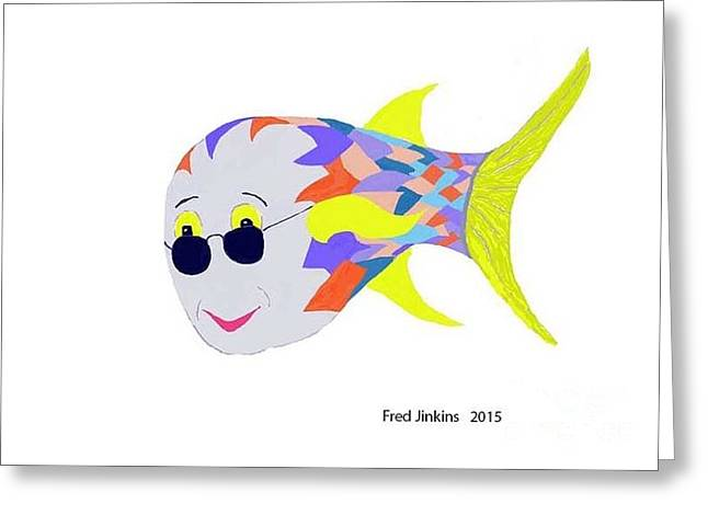 Fish Digital Greeting Cards - Happy Fish Touring Greeting Card by Fred Jinkins