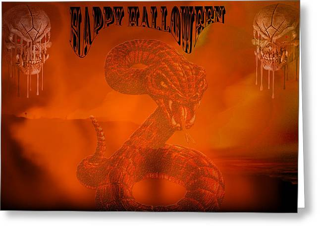Happy Halloween 2 Greeting Card by Evelyn Patrick