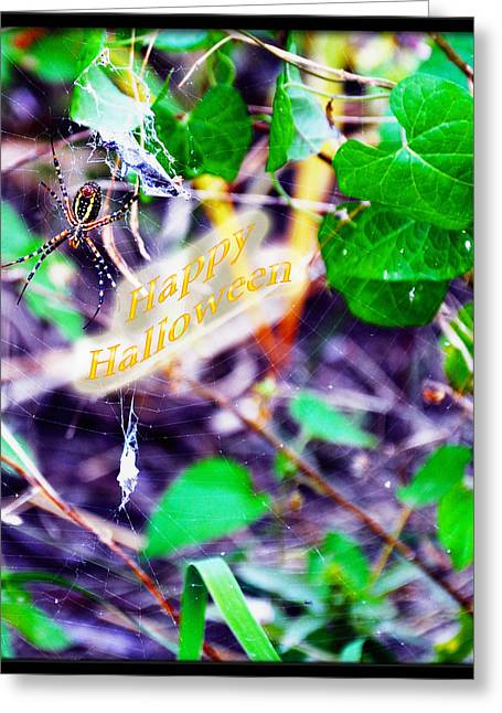 Agonized Greeting Cards - Happy Halloween Greeting Card by Brittany H