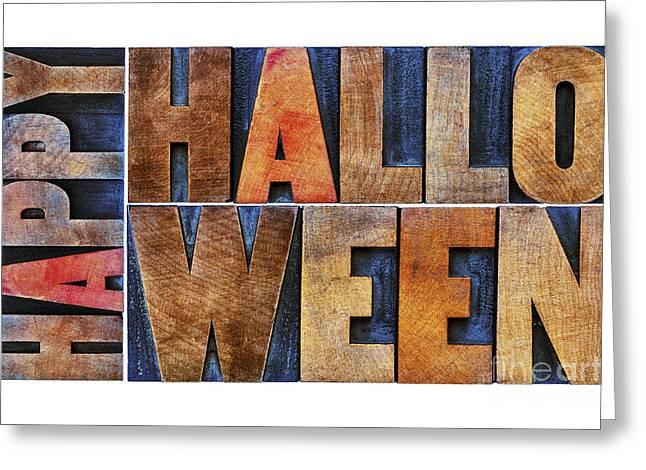 Festivities Greeting Cards - Happy Halloween greeting card Greeting Card by Marek Uliasz