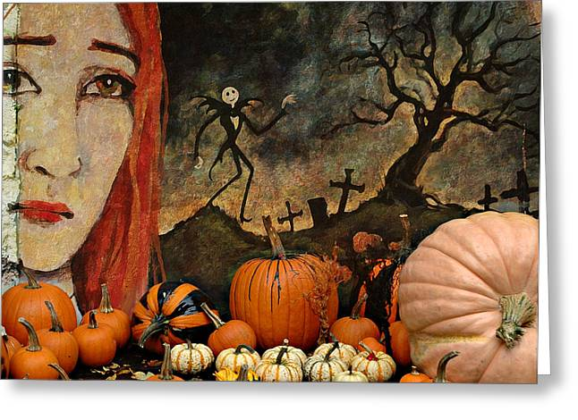 Jeff Burgess Greeting Cards - Happy Halloween Greeting Card by Jeff Burgess