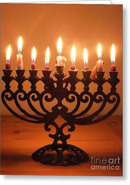Happy Hanukkah Greeting Card by Annemeet Hasidi- van der Leij