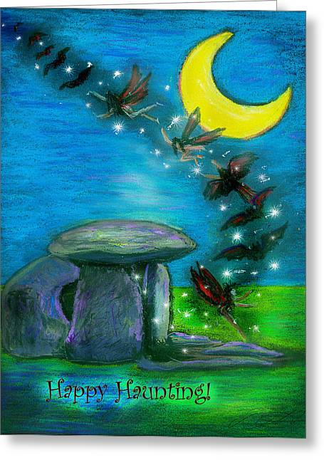 Happy Haunting Greeting Card by Diana Haronis