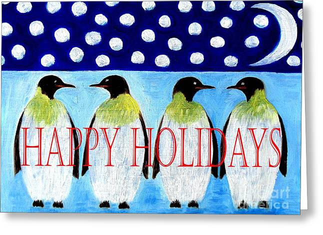 Christmas Art Greeting Cards - Happy Holidays 13 Greeting Card by Patrick J Murphy