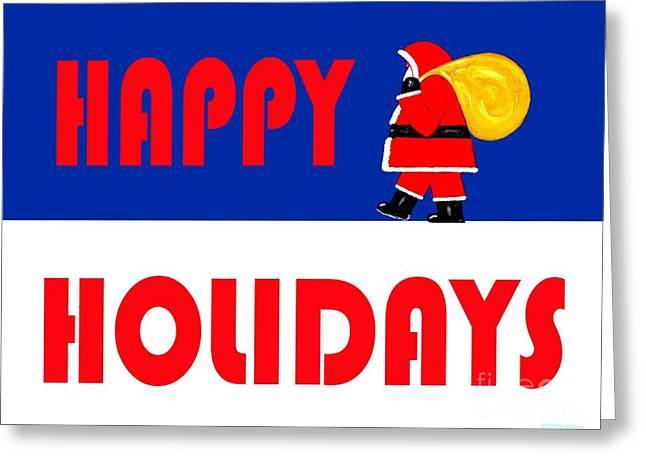 Christmas Mixed Media Greeting Cards - Happy Holidays 15 Greeting Card by Patrick J Murphy