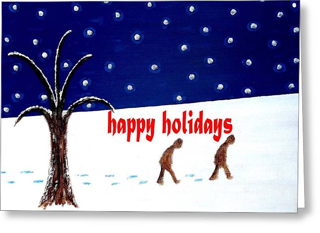 Happy Holidays 5 Greeting Card by Patrick J Murphy