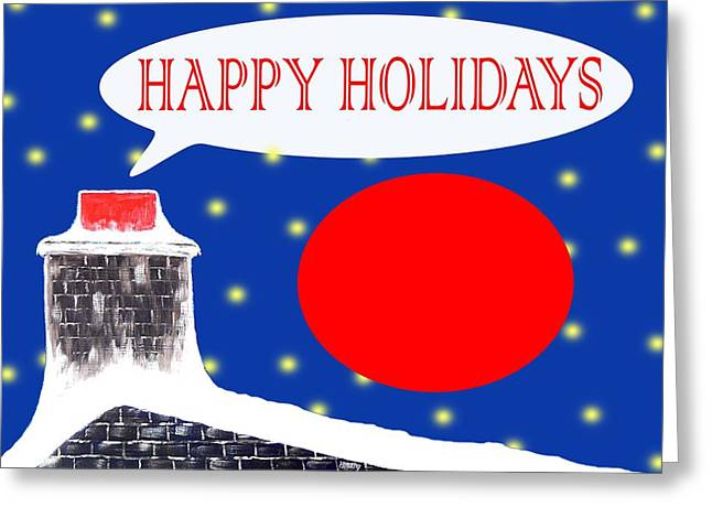 Christmas Art Greeting Cards - Happy Holidays 60 Greeting Card by Patrick J Murphy
