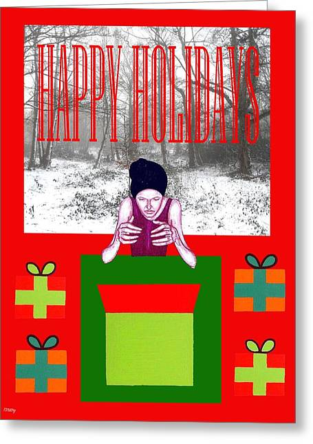 Happy Holidays 63 Greeting Card by Patrick J Murphy