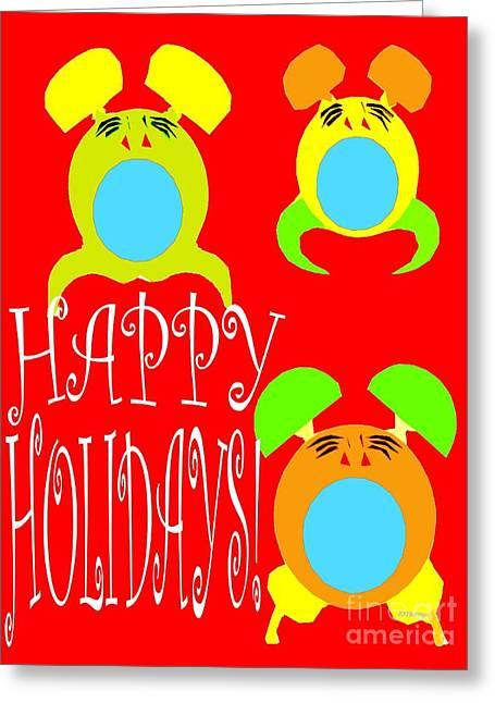 Christmas Mixed Media Greeting Cards - Happy Holidays 8 Greeting Card by Patrick J Murphy
