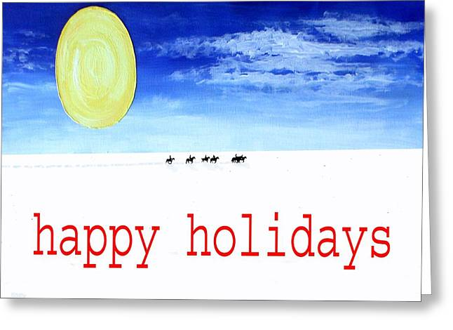 Happy Holidays 92 Greeting Card by Patrick J Murphy